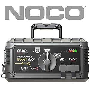 NOCO Boost Pro GB500: UltraSafe 12V y 24V 6250A Arrancador, Bateria Booster, y Cables de Arranque para Motores de…