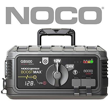NOCO Boost MAX GB500 20000 Amperios 12V / 24V UltraSafe Litio Arrancador de Batería de Coche para Motores de Gasolina y Diesel y Vehículos de Clase 8+ / CE