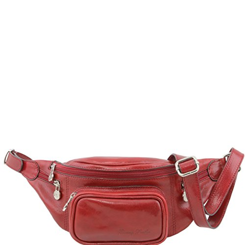 Tuscany Leather Marsupio in pelle Nero Rosso
