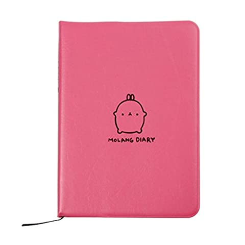 Molang Diary Weekly Planner Agenda Bloc-notes Notebook Rose vif