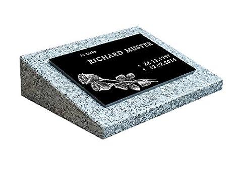 Urnengrabstein Nr. 1, Grabstein Grabmal, Grabplatte inkl. Inschrift und Motiv