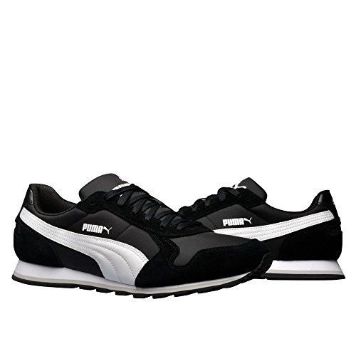 Puma St Runner NL, Chaussures de Running Entrainement Mixte Adulte Blanc-Noir
