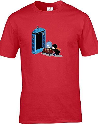 Eat Sleep Shop Repeat Herren T-Shirt Rot