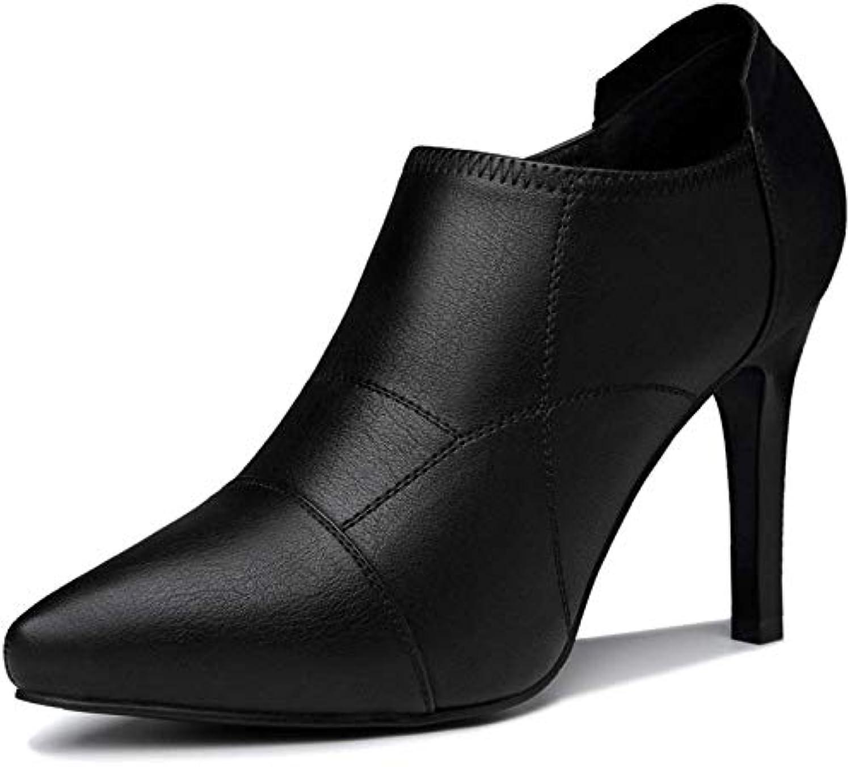 Eeayyygch Autunno Nuovo Suede di Spessore con Scarpe da Donna Coreano Tondo Capo Strass Cerniera Laterale Donna... | On Line  | Scolaro/Ragazze Scarpa