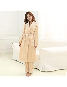 DMMSS femminile dolce pigiama Set due pezzi Sleepwear Set accappatoio , 2 , m