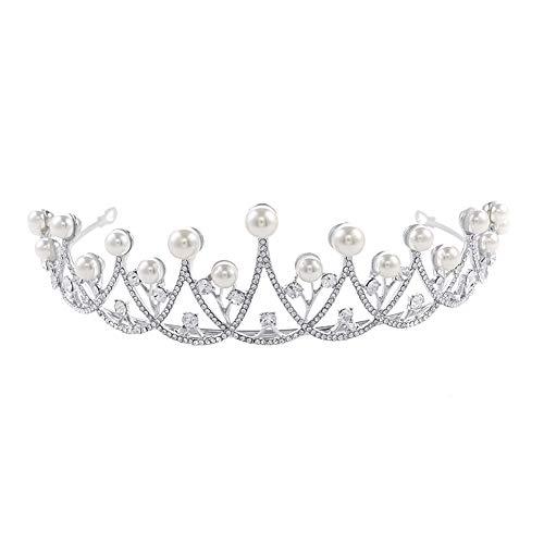 Hoher Kostüm Von Qualität - Ogquaton Prinzessin Crown Strass Perle Crown Hochzeit Dekoriert Braut Brautjungfer Tiaras Party Zubehör Stirnband Kopfschmuck Kostüm Hohe Qualität