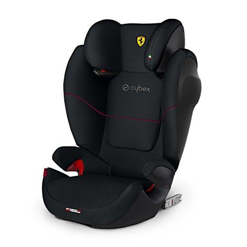 CYBEX Silver Siège Auto Solution M-Fix SL Scuderia Ferrari, Adapté aux Voitures Avec ou Sans Isofix, Groupes 2/3 (15-36 kg), De 3 Ans à 12 Ans Environ, Victory Black