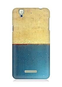 Amez designer printed 3d premium high quality back case cover for YU Yureka (Art abstract classic paint illust blue)