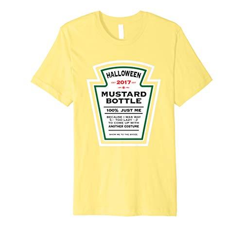 Halloween gelb senf Label Flasche Kostüm T-Shirt