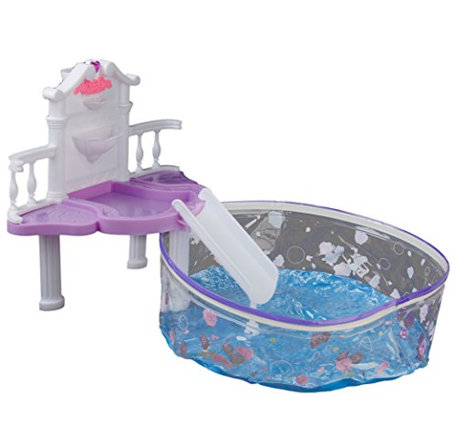Plastica Mobili Dollhouse Cascata Fantasia Gioco Piscina Fissato Per Barbie
