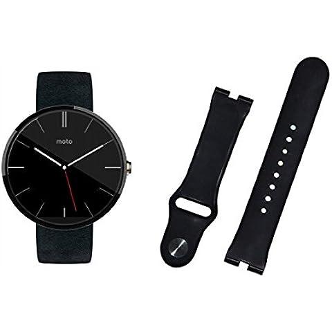 BlueBeach® Ricambi di alta qualità Motorola Bracciale cinghia del silicone Moto 360 (nero)