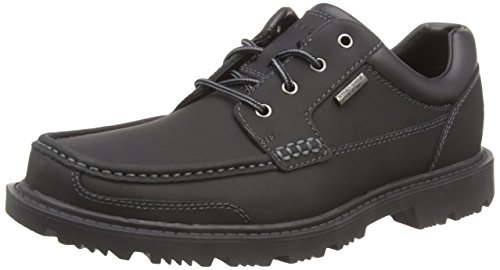Rockport Redemption Road Moc Toe, Écharpe Oxford Uomo Nero