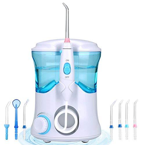 Munddusche zu Hause Desktop Mundwasser Wasserreiniger Professionelle Zahnpflege Reinigung, mit 3 Düsen 7 Arten von Getriebe 600ML große Kapazität -