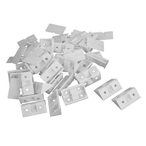 Soporte de angulo - TOOGOO(R) 30 piezas soportes apoyados de angulo de...