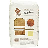 Doves Farm- Gluten & Wheat Free- Brown Bread Flour 1 kg (Pack of 5)