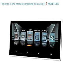 Moniteur d'appui-tête de Voiture, écran Tactile IPS de Joueur Android 6.0 1080p de 11,6 Pouces, entrée HDMI, entrée AV, USB, WiFi, TF, Lien Miroir, (Le Prix est pour Deux moniteurs)