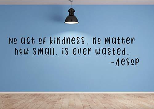 Dozili Wandaufkleber, Aufschrift No Act of Kindness, Be Kindness, englischsprachig, 61 x 12,7 cm