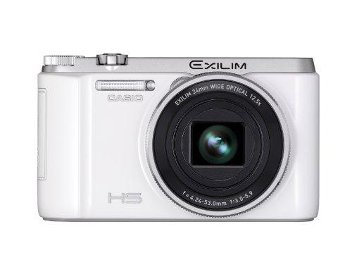 Casio Exilim EX-ZR1000 Digitalkamera (16,1 Megapixel, 7,6 cm (3 Zoll) Schwenkdisplay, 25-fach Multi SR Zoom, HS-Nachtaufnahme ISO 25.600, HDR) weiß (Kamera Casio Digital)