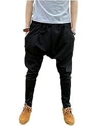 EJY Homme Mélange de Coton Confort Maigre Pantalon De Sport, Pantalon De Danse, Jogging Pantalon, Sarouel Pantalon