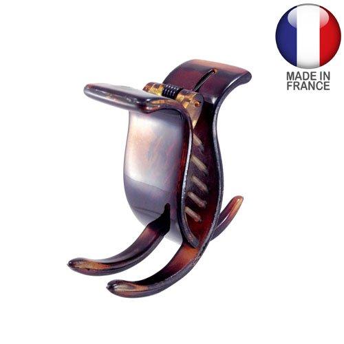 342 – 003 – Pince pour cheveux français cm 2 trois dents – Tortue – Pinces pour Cheveux