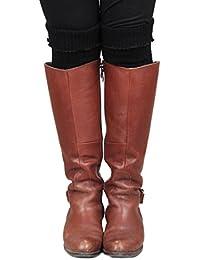 9d49bca3e96 Calonice Amorino Accessoire pour Femmes Jambières chaudes rouge  tendancehiver printemps automne Jambières jusqu au genou