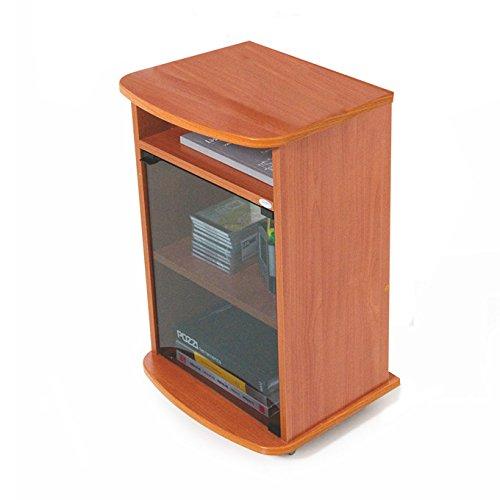 Carrello porta Tv mobile color ciliegio con vetrina Cm 47x40xH 73