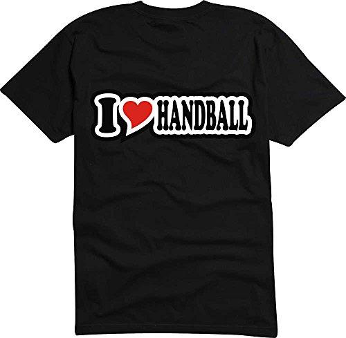 T-Shirt I Love Heart Herren I LOVE HANDBALL Schwarz