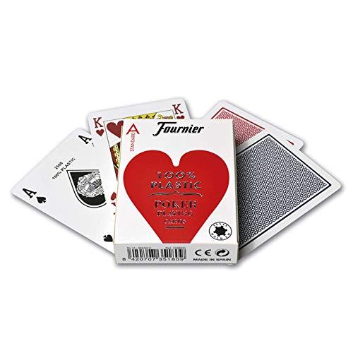 FOURNIER 1028934 No 2500 - Naipes profesionales de plástico para póquer, calidad...