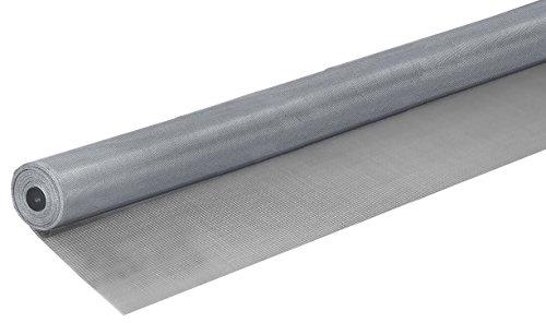 Windhager Insektenschutz Fliegengitter Aluminium-Gewebe Alu-Gitter, ideal auch für Lichtschächte, robust, widerstandsfähig, zuverlässiger Schutz, silber, 100 x 250 cm, 03621 (Gaze)