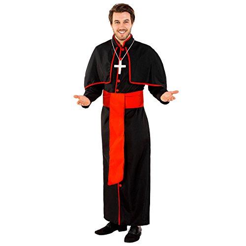 Mächtiger Mädchen Ein Kostüme 2017 Halloween (Herrenkostüm Kardinal Giovanni | lange Kardinalsrobe | angenähtes Cape | inkl. Gürtel & Kreuzkette (L | Nr.)