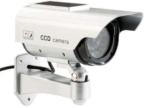 VisorTech Solar-Überwachungskamera-Attrappe / Dummy mit LED
