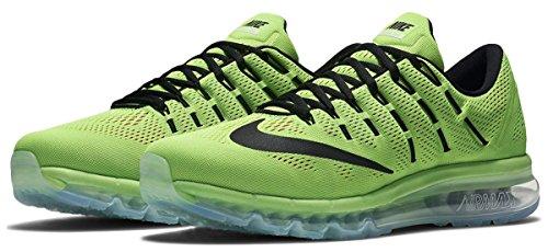 Nike Herren Air Max Laufschuhe, Verde (Verde (Elctrc Green/Blck-PNK BLST-WHT)), 44 1/2 EU (Max-verde-grün)