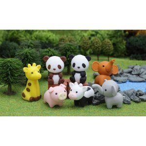 Iwako Japanese Puzzle Take Apart Erasers Zoo Animals Set of 7 Enfants, enfants, jeux, jouets, jeux