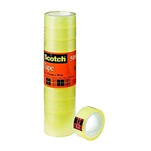 Scotch Nastro Adesivo 3M, Trasparente Acrilico, 15 mm x 10 m, Confezione Torretta da 10 Pezzi 2 spesavip