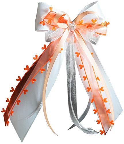 Antennenschleifen | Autoschmuck weiß, orange, apricot