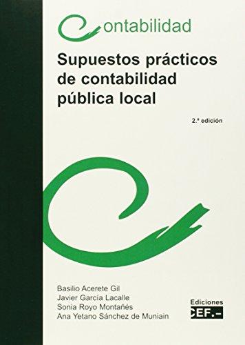 Portada del libro Supuestos prácticos de contabilidad pública local