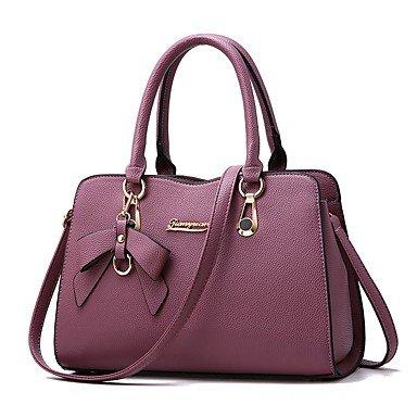 Damenmode PU Leder Bug Schulter Messenger Crossbody-tasche/Handtasche Tote Purple