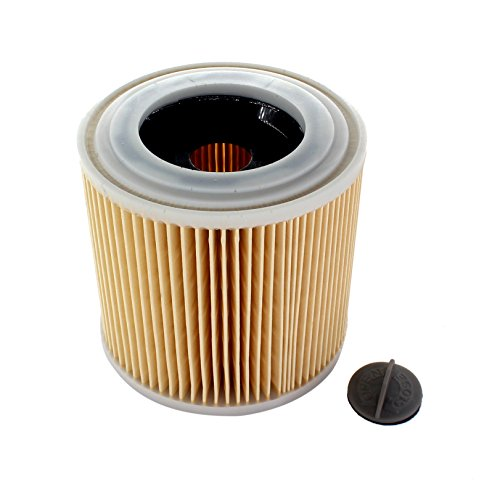 AISEN Patronenfilter Lamellenfilter 6.414-552.0 für Kärcher WD 3.500 P, A1000, A1001, MV2 MV3 WD2 WD3, A2204 Fireplace Kit