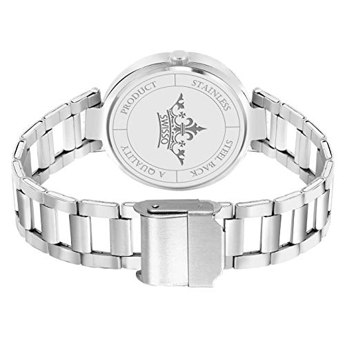 Swisso Royal Collection White-Rosegold Dial Analogue Watch - for Women, Girls (SWS-004WMN)