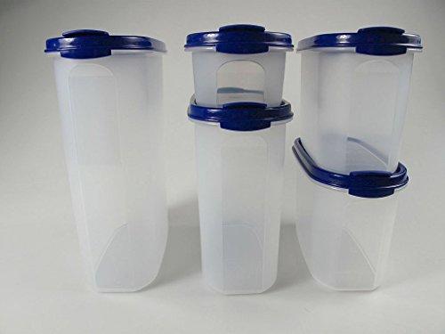 TUPPERWARE Eidgenosse 2,3 L, 1,7 L, 1,1 L (2), 500 ml blau Vorrat Modular 7651