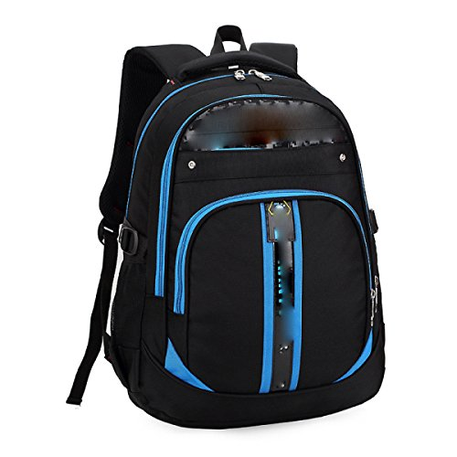 University Man Rucksack College Man Reise Rucksack,Green Blue
