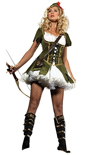 shoperama 2 Ladies Peter Pan Fancy Dress Carnival Costume Robin Hood Fairytale New Sexy