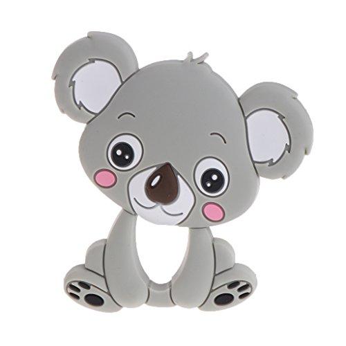 Exing Exing Baby Beißring Silikon Nette Koala Kinderkrankheiten Spielzeug Halskette Neugeborenen Kauen Pflege (Grau)
