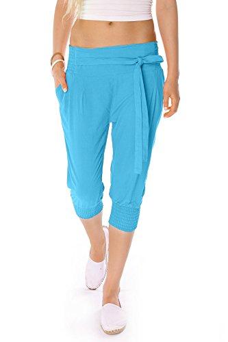 Bestyledberlin pantalon femme, pantalon de toile, pantalon chino pour femmes j08kw Turquoise