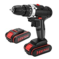 Extaum 36V Multifunctional Electric Impact Cordless Drill High-power Lithium Battery Wireless Rechargeable Hand Drills Home DIY Electric Power Tools