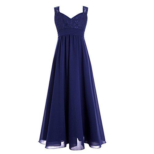 YiZYiF Mädchen Kinder Kleider Festlich Lang Brautjungfern Kleid Prinzessin Hochzeit Party Kleid...