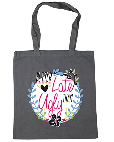 hippowarehouse-better-late-than-ugly-tote-shopping-gym-beach-bag-42cm-x38cm-10-litres