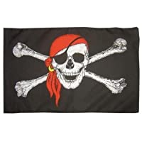 5ft X 3ft Pirate Skull flag with Bandana