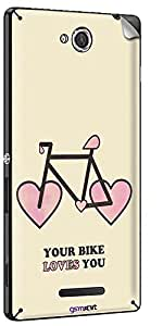 GsmKart SXC Mobile Skin for Sony Xperia C (Pink, Xperia C-805)
