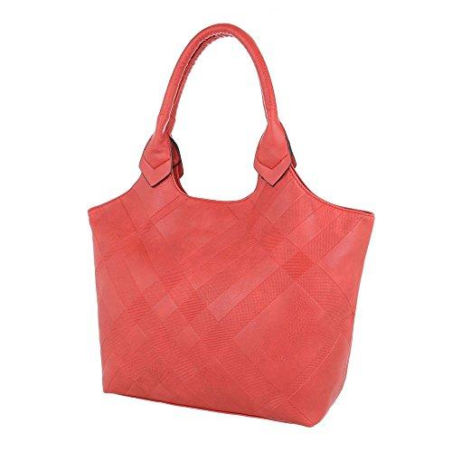 Taschen Tragetasche Used Optik Rot